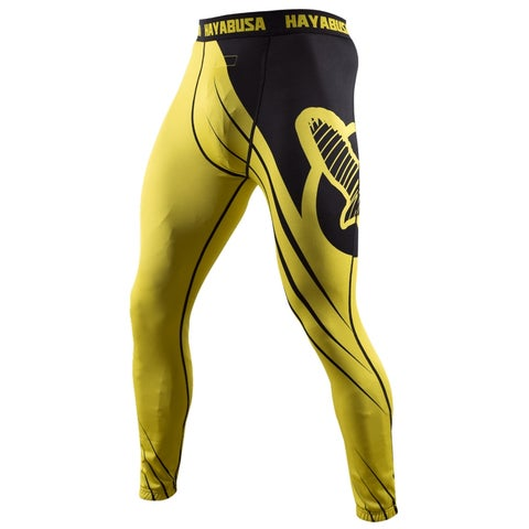 Hayabusa Recast Full Length Compression Pants - Yellow/Black-spats mma grappling