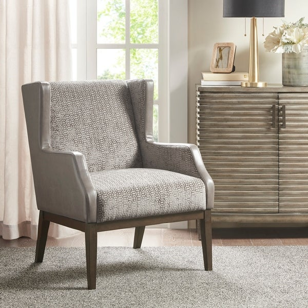 Madison Park Benjamin Cream/ Taupe Accent Chair. Opens flyout.