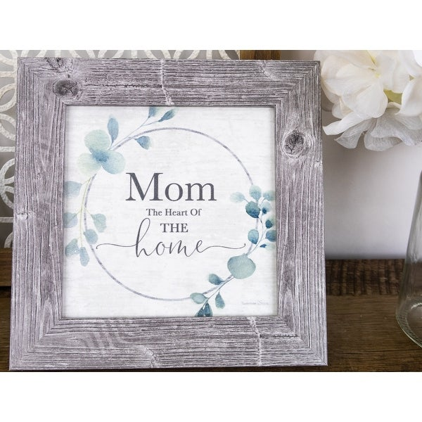 Mom The Heart Of The Home Framed Art Decor Picture. Opens flyout.