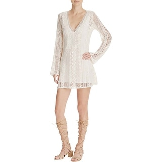Guess Womens Casual Dress Embroidered Shift - s