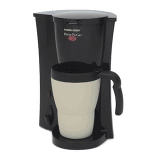 Black & Decker DCM18 Brew 'n Go Personal Coffee Maker with Travel Mug