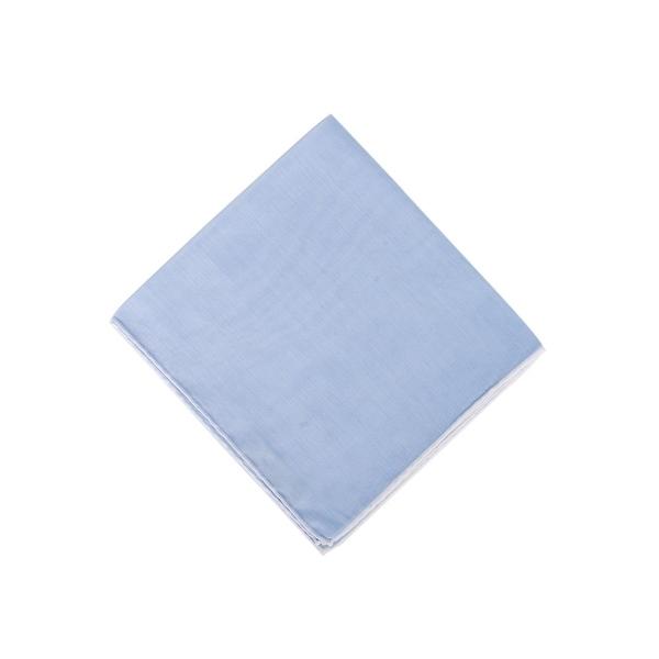 Tom Ford Mens Solid Light Blue Silk Pocket Square