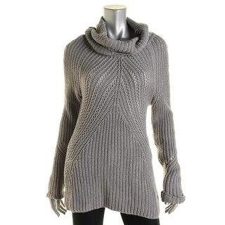 Aqua Womens Knit Turtleneck Pullover Sweater