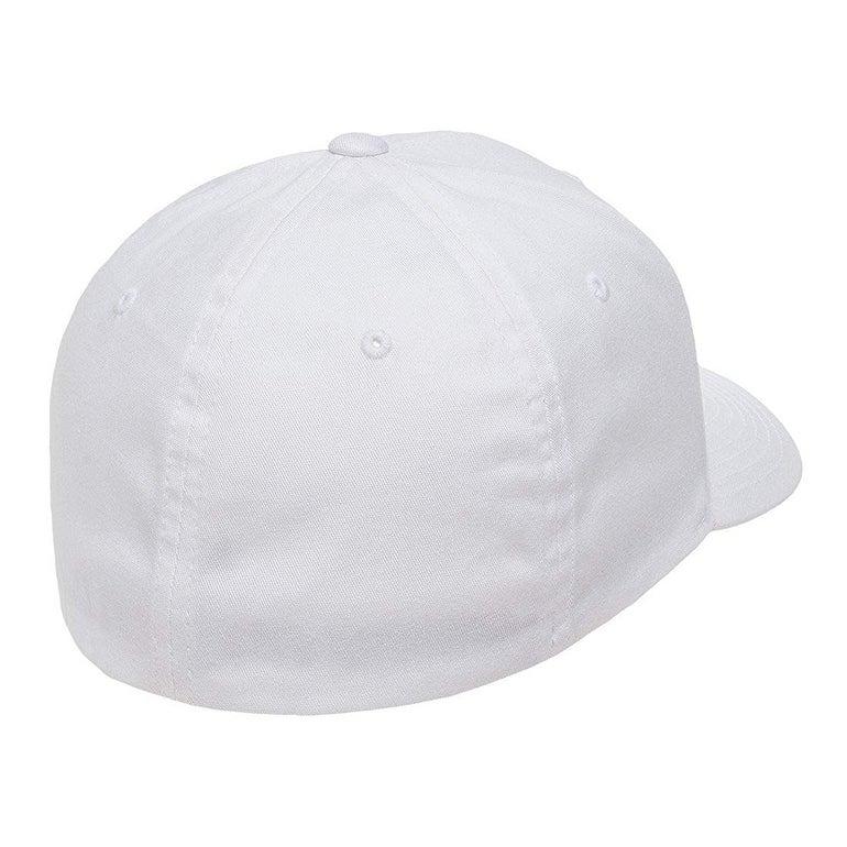 Black Flex fit Mens Cotton Twill Fitted Cap Small//Medium