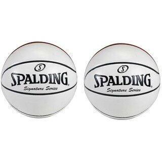 Spalding Signature Series Autograph Basketballs (2 Pack) Bundle