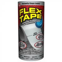 "Flex Tape TFSGRYR0805 Rubberized Waterproof Tape, Gray, 8"" x 5', As Seen On TV"