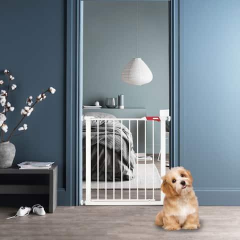 Pet Safety Gate Door Walk Through Child Toddler Pet Metal Easy Locking - Medium