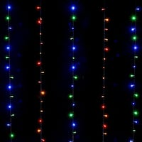 300 LED Waterproof Voltage Operated Curtains Light 8 Model w/ Memory Function Lights Multi-color