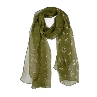 """Link to Long Chiffon Beach Scarf Silk Scarves Floral Scarves for Women Green - 63""""x20"""" Similar Items in Scarves & Wraps"""