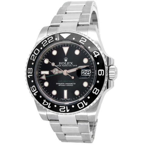 Pre-owned 40mm Rolex Stainless Steel GMT-Master II - 7 inches