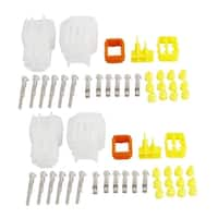 Unique Bargains 2 Set White Wire Connector Plug in 6 Pins 6 Way Waterproof Weather Proof for Car