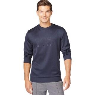 Hugo Boss Green Label Modern Fit Salbo Crewneck Sweatshirt Blue Small S