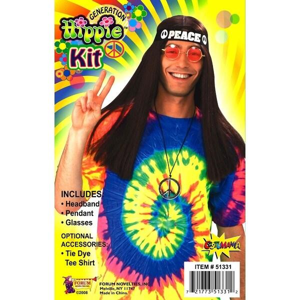 Hippie Adult Costume Kit - Multi-Colored