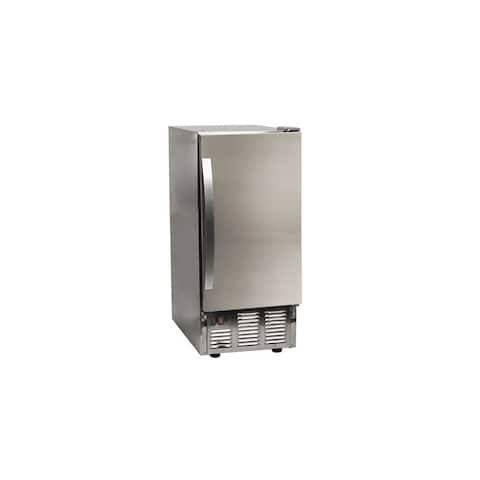 "EdgeStar OIM450 15"" Wide 25 Lbs. Capacity Built-In Ice Maker with 50 - Stainless Steel"