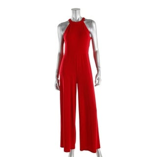 Lauren Ralph Lauren Womens Petites Sleeveless Solid Jumpsuit - ps