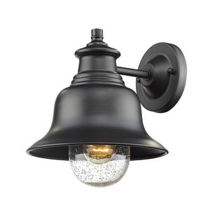 """Millennium Lighting 2512 Single Light 10"""" High Outdoor Wall Sconce with Glass Shade"""