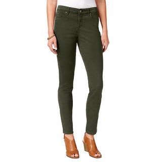 Style & Co Curvy-Fit Skinny Tummy Control Mid Rise Jeans Pants Evening Olive - 18 short