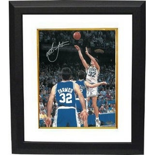 Christian Laettner signed Duke Blue Devils Vertical 16x20 Photo Custom Framed 1992 The Shot vs KY B