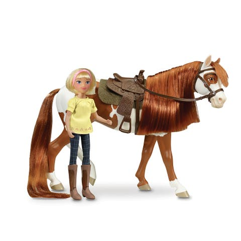Breyer Spirit Riding Free Horse & Doll Gift Set - Boomerang & Abigail
