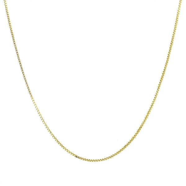 Mcs Jewelry Inc 14 KARAT YELLOW GOLD SOLID BOX CHAIN NECKLACE (0.8MM)