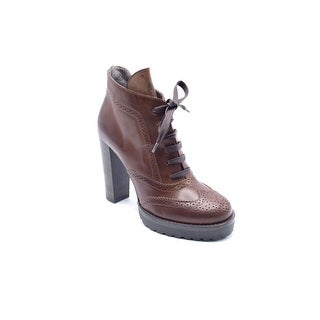 Brunello Cucinelli Womens Brown lace Up Ankle Boots Size 37 / 7