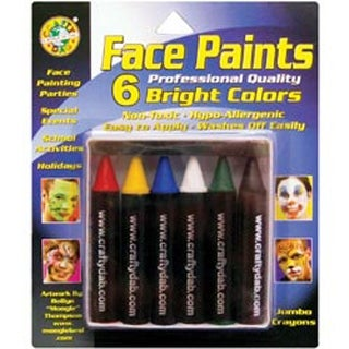 Bright - Face Paint Jumbo Crayons 6/Pkg