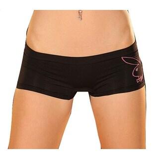 Playboy Women's Seamless Logo Boyleg Brief Panty