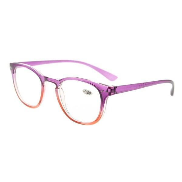 Eyekepper Fashion Readers Womens Reading Glasses (Purple-Red Frame, +0.75)