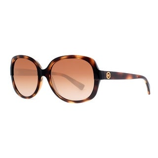MICHAEL KORS Round MK 6017 Women's 300613 Havana Brown Brown Gradient Sunglasses - 58mm-17mm-135mm