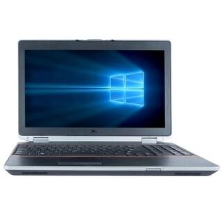 "Refurbished Laptop Dell Latitude E6520 15.6"" Intel Core i5-2520M 2.5GHz 4GB DDR3 320GB Windows 10 Pro 1 Year Warranty - Black"