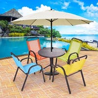 Costway Patio 5PCS Kids Table and Chairs Indoor Dining Set Play Set Children Activity