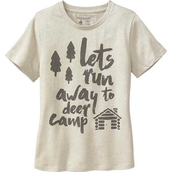 Legendary Whitetails Ladies Deer Cap Huntin' Wish List Short Sleeve T-Shirt - winter heather