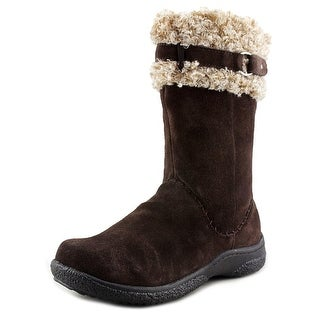 Propet Northstar Women Round Toe Suede Brown Mid Calf Boot