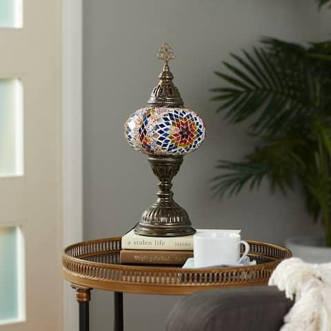 Glass Bohemian Accent Lamp 15 x 6 x 6 In