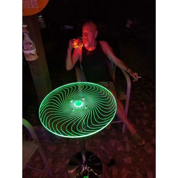 Delicieux Shop Spyra LED Light Up Bar Table   On Sale   Free Shipping Today    Overstock.com   5235336