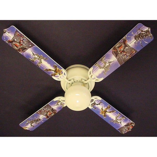 Boys Transformers Blades 42in Ceiling Fan Light Kit - Multi