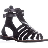 White Mountain Carson Gladiator Flat Sandals, Black