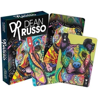 Dean Russo Dogs Licensed Playing Cards - Standard Poker Deck - MultiColor