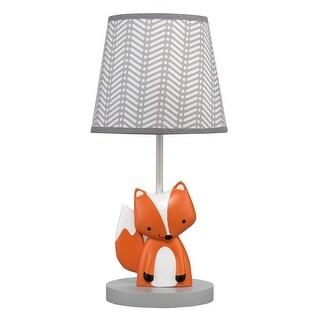 Bedtime Originals Orange Acorn Lamp with Shade & Bulb