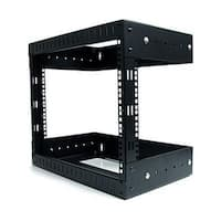 Startech Rk812walloa 8U Open Frame Wall Mount Equipment Rack - Adjustable Depth