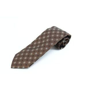 Robert Talbott NEW Brown Blue Geometrics Men's Neck Tie Silk Accessory