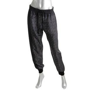 Pure DKNY Womens Jogger Pants Printed Flat Front - S