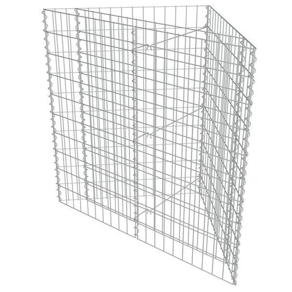 vidaXL Gabion Planter Outdoor Stone Corner Cages Basket