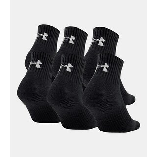 Under Armour Men's Charged Cotton 2.0 Quarter Socks, (6 Pack)