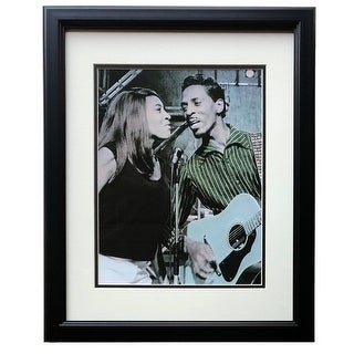 Ike And Tina Turner Framed Rare 1960 S On Stage 12x17 High Quality Photo