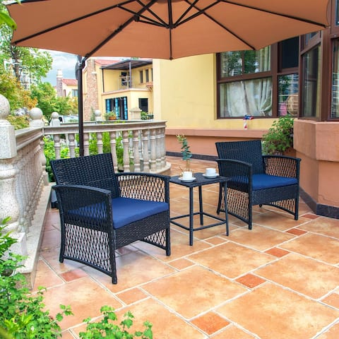 Heritage Outdoor 3-piece Wicker Bistro Patio Set