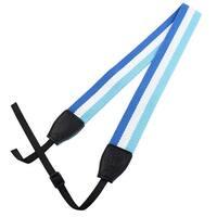 SHETU Authorized Camera Anti-slip Shoulder Neck Strap Sky Blue White for DSLR