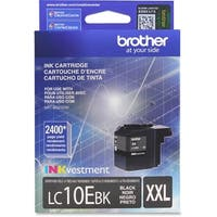 Brother LC10EBK Brother LC-10EBK Ink Cartridge - Black - Inkjet - Super High Yield - 2400 Page