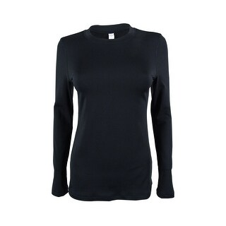 Ideology Women's Long Sleeve Stretch Active Top - Noir (2 options available)