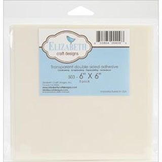 """Elizabeth Craft Double Sided Adhesive 6""""X6"""" Sheet 5/Pkg-"""